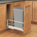 Rev-A-Shelf 5349-1550DM-117 5349 Series Pull Out Waste Bins single bin 50qt silver 21