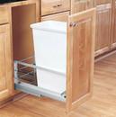 Rev-A-Shelf 5349-1550DM-1 5349 Series Pull Out Waste Bins single bin 50qt white 21