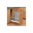Rev-A-Shelf 5349-15DM18-117 5349 Series Pull Out Waste Bins single bin 35qt silver 18