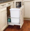 Rev-A-Shelf 5349-15DM18-1 5349 Series Pull Out Waste Bins single bin 35qt white 18