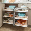 Rev A Shelf Blind Corner f/18in Open 3 Tier CHR/MA