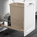 Rev-A-Shelf 53WC Waste Bins 35qt Single Champagne