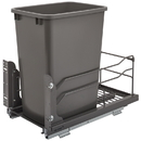 Rev-A-Shelf Steel BM Waste Containers w/Soft Close Single 35QT Orion Gray