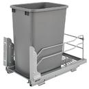 Rev-A-Shelf 53WC-1535SCDM-117 53WC Waste Bins 35qt Single Silver