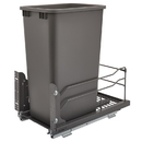 Rev-A-Shelf Steel BM Waste Containers w/Soft Close Single 50QT Orion Gray