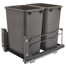 Rev-A-Shelf Steel BM Waste Containers w/Soft Close Double 35QT Orion Gray