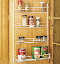 Rev-A-Shelf Door Mount Wire Spice Rack white 7-7/8