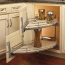 Rev-A-Shelf 582-18-LMP Curve Two-Tier Blind Corner Pull-out Left-Hand Chrome/Maple