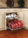 20-3/4W 2-Tier SoftCl Pullout CHR