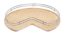 Rev-A-Shelf Chrome Fence Railing for Kidney Wood Susans 28