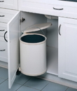 14 Liter Pivot Out Waste Bin WHITE