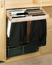 Rev-A-Shelf Slide Out Pants Rack Maple 24