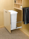 Rev-A-Shelf Shallow Hamper White door mount white