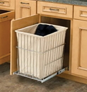 Rev-A-Shelf HRV-1520-S-CR Pull Out Wire Hamper 64 qt 14-3/4