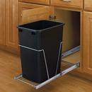 Rev-A-Shelf RV-12KD-18C-S RV Series Pull Out Waste Bins single bin 35qt full extension black