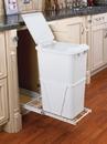 Rev-A-Shelf RV-12PB-50-L-S RV Series Pull Out Waste Bins single bin 50qt w/lid full extension white