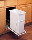 Rev-A-Shelf RV-12PB-50 RV Series Pull Out Waste Bins single bin 50qt 3/4 extension white
