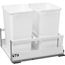 Rev-A-Shelf TWC Series with Blum TandemBox Slides and Servo Drive Double 35Qt Bin White