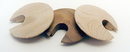 Real Wood Cable Hole Grommet maple 2-1/2