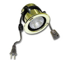 Specialty Lighting Halogen Ring Mount Can Light w/Switch Polished Brass
