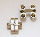 SOSS Satin Brass Invisible Concealed Hinge for 1/2