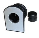 CompX Timberline Vertical Glass Door Cam Lock Satin Nickel
