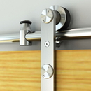 BarnDoor SurfaceMnt Round Rail SS