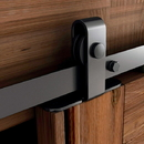 US Futaba Mini Barn Door Hardware Top Mount Black