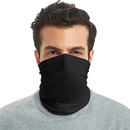 GOGO Black Bandana Balaclava Seamless Face Scarf Protection for Dust Outdoors