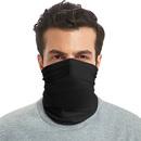 GOGO Black Bandana Balaclava Seamless Face Scarf Protection for Dust Outdoors