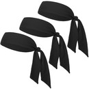 GOGO 12 Pack Head Tie Sports Headbands, Tie Back Headband Wholesale
