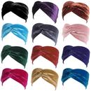 GOGO 12 PACK Women's Turban Headwrap Headband, Velvet Hair Band Assorted Colors