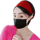 GOGO Elastic Headband with Button Mask Holder for Nurse Women Hair Band Turban Headwrap