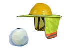 Hard Hat Sun Shield, Full Brim Mesh Neck Sun-Shade Protection with Visor for Hardhats, High Visibility and Reflective