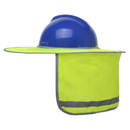 GOGO Hard Hat Sun Shield, High Visibility Full Brim Neck Sunshade for Hardhats