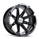 Moto Alliance MA-1214756 MSA Diesel 14x7, 4/156 (-47MM) Rear/Wide Offset - Black