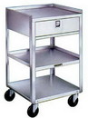 Hilco Vision 1034479 Lakeside Stainless Steel Carts - Three Shelves, One Drawer