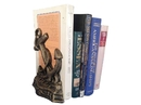 Handcrafted Model Ships 2-k-0136-gold Set of 2- Antique Gold Cast Iron Anchor Book Ends 8