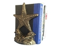 Handcrafted Model Ships 2-k-0155-gold Set of 2- Antique Gold Cast Iron Starfish Book Ends 11