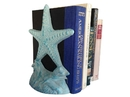 Handcrafted Model Ships 2-k-0155-lightblue Set of 2- Light Blue Whitewashed Cast Iron Starfish Book Ends 11