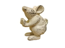 Handcrafted Model Ships 2-K-1342-W Set Of 2 - Whitewashed Cast Iron Mouse Book Ends  5&Quot;