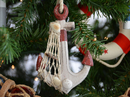 Handcrafted Model Ships Anchor-Red-XMASS Rustic Red Decorative Anchor Christmas Tree Ornament