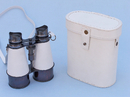 Handcrafted Model Ships BI-0315-Black-W Captain's Oil-Rubbed Bronze/White Leather Binoculars with Leather Case 6