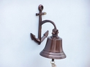 Handcrafted Model Ships BL-2018-1-AC Antique Copper Hanging Anchor Bell 8