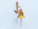Handcrafted Model Ships BL-2018-1-BR Brass Hanging Anchor Bell 8