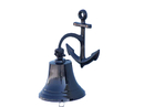 Handcrafted Model Ships Bl-2018-2-black Oil Rubbed Bronze Hanging Anchor Bell 10