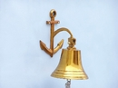 Handcrafted Model Ships BL-2018-2-BR Brass Hanging Anchor Bell 10