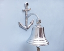Handcrafted Model Ships BL-2018-2-CH Chrome Hanging Anchor Bell 10