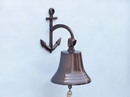 Handcrafted Model Ships BL-2018-3-AC Antique Copper Hanging Anchor Bell 12