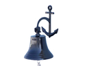 Handcrafted Model Ships Bl-2018-3-black Oil Rubbed Bronze Hanging Anchor Bell 12